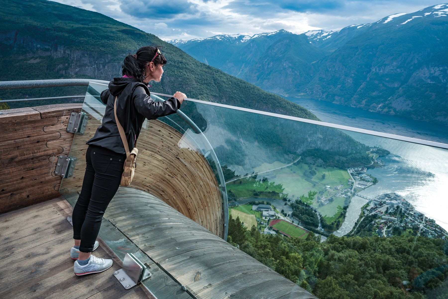 Stegastein Lookout Beautiful Nature Norway observation deck view 637264896 web